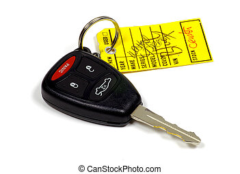 Key and Tag - Car Key and Identification Tag