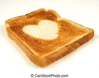 Heart toast for your valentine