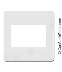 blanco, diapositiva, 35 mm