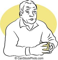 Coffee Break - man having a coffee break