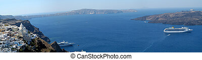 Santorini large panorama, Greece