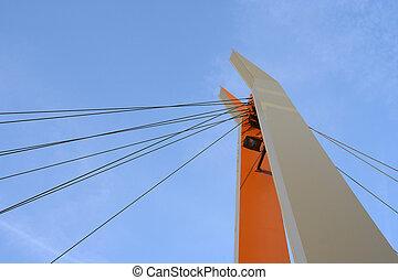 suspension bridge - detail of suspension bridge