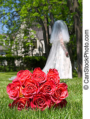 Bridal portrait - A low angle bridal portrait