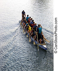 dragon boat team - women who are breast cancer survivors...