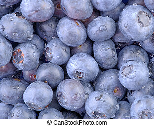 Blueberries Macro 2 - A high resolution horizontal macro of...