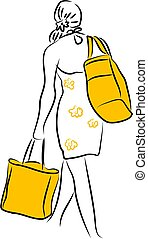 Shopping - woman carrying shopping bags