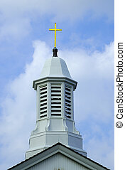 Church Steeple - Cross on a Church Steeple