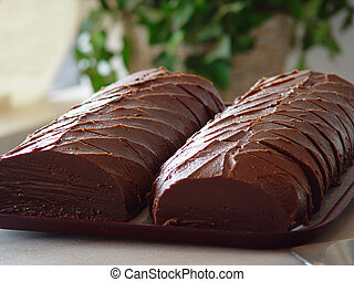 Loaves of Fudge - Two freshly baked loaves of chocolate...