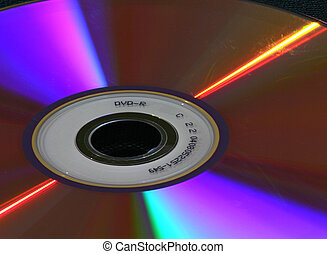 DVD lights - DVD-R disc close-up