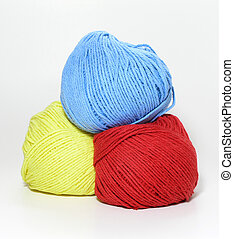 Colored yarn - Three balls of colored yarn