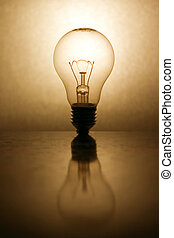 Lightbulb - lightbulb with reflection shot with EOS 300d and...