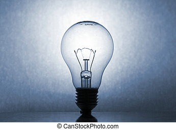 Bulb in Blue Tone - lightbulb with reflection shot with EOS...