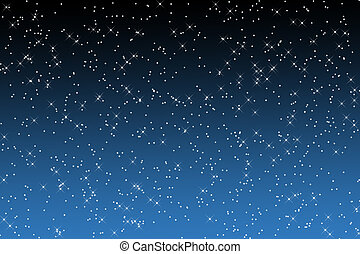Constellation Over Black And Blue - Twinkling star...