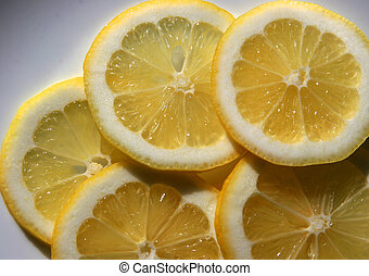 Lemon Slices on plate