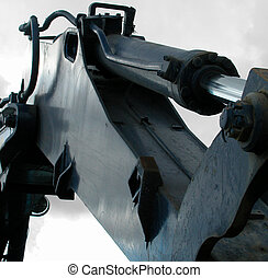 power tools - closeup of a portion of a power shovel