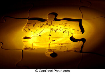 Investment Puzzle - Puzzle Missing Pieces With Stock Chart...
