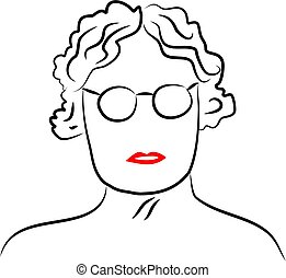 Senior Lady - senior lady wearing glasses