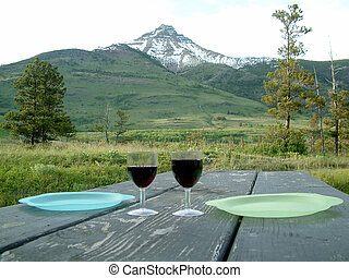 wilderness dinner - Dinner with a magical view Waterton...