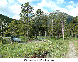 mountain campground - Campground in Waterton lakes NP,Canada...