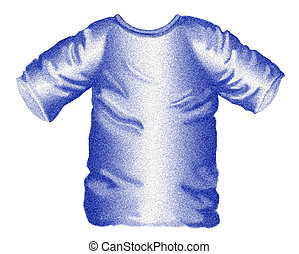 Blue T-shirt - A rendering of a casual blue cotton t-shirt