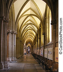 Cathedral aisle - Right aisle inside Wells Cathedral