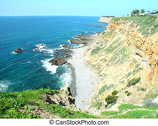 palos verdes cliffs - this is an image taken of the cliffs...