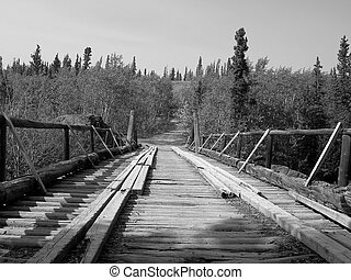Historic Bridge - Historic bridge in the Yukon, Canada