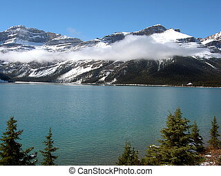 Rocky Mountain Lake - Lake with Rocky Mountain backdrop,...