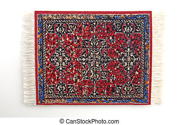 Persian Rug 4 - A miniature Persian rug isolated, 12MP...