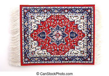 Persian Rug 3 - A miniature Persian rug isolated, 12MP...