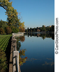 Rideau morning - the Rideau canal, Ottawa, on a clear calm...
