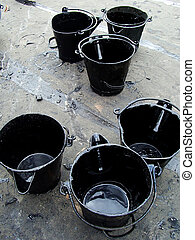 Pitch buckets - Buckets of Tar