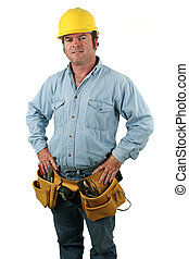 Tool Man - Pride - A construction worker posing proudly with...