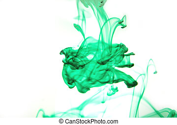 Smoke or Water - green abstract smoke or water effect on...