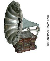 antieke, grammofoon