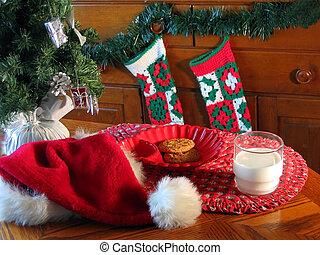 Waiting for Santa - A treat for Santa on Christmas Eve