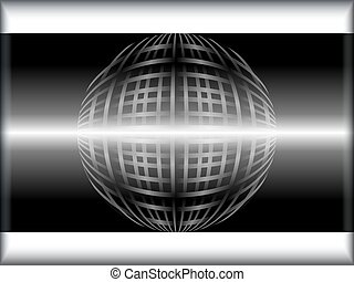 Wired globe template - Black and white template preset with...