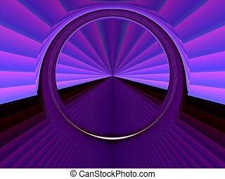 Star gate - Digital art background with stargate . Portal ,...