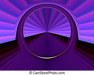Star gate - Digital art background with stargate . Portal ,...