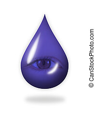 Teardrop - A drop with an eye in it