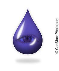 Teardrop - A drop with an eye in it