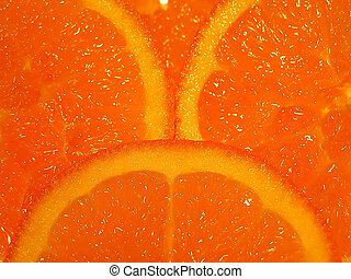 Orange slices - Three slices of orange
