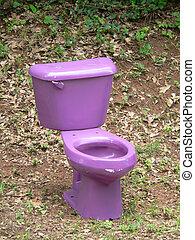 Purple Toilet - Outdoor Toilet