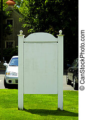 Blank Sign - Photo of a Blank Sign