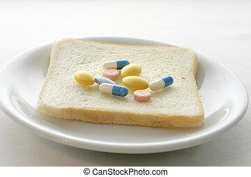 pilules, petit déjeuner