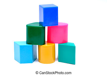 Baby Toy Blocks - Baby blocks, isolated