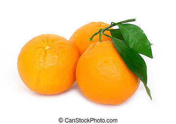 Three Oranges - Three oranges on white background