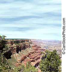 Canyon Slope - Sloping rock formations shot at Grand Canyon...