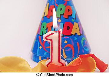 Birthday scene 4 - Birthday scene - lit candle