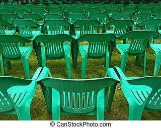 open air chairs - in an open air theatre